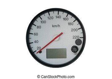 Speedometer of a sport car