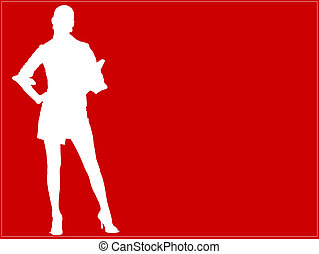 Charmaine Shoultz 1 - Business woman outlined - Red...