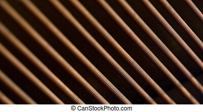 Antique Piano Strings - Photo of of the strings of an...