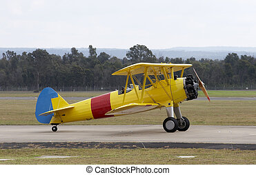 Gypsy Moth on the runway
