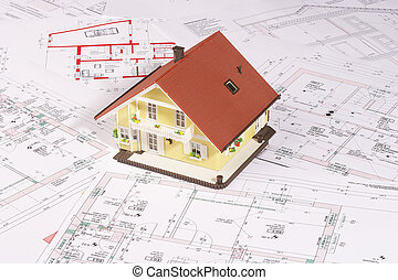 my house - modell house on plans