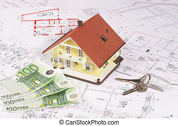 my house and money - modell house on plans