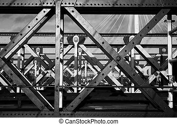 Bridge 2 - The Charring cross railway bridge girders - Black...