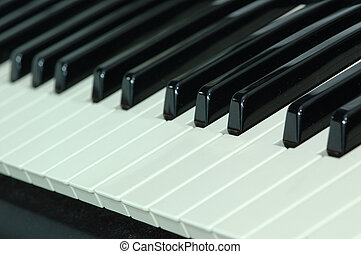 Piano Keys - BlackWhite Piano Keys