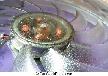 fan - purple computer fan