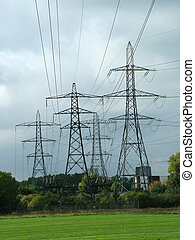 Electric Pylons - A group of four Electricity Pylons.