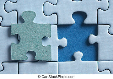 i belong in this - puzzle with a hole and the missing piece