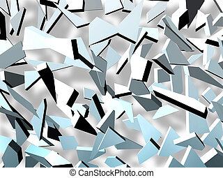chaotic  - Colored splinters used as chaotic background