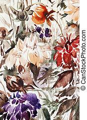 painting flowers - spring flowers