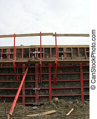 concrete form - cribbing forms for a concrete wall