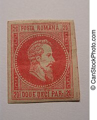 very old stamp from Romania - Very old stamp