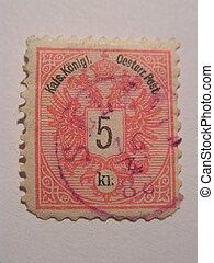 Old Stamp - old stamp 5kr