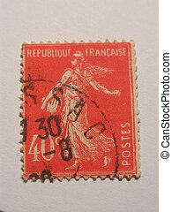 Old french stamp - old stamp