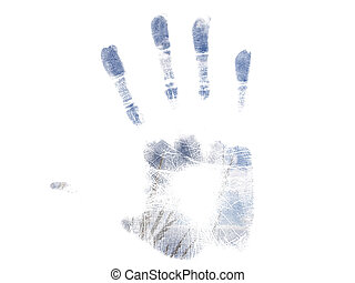 Summer handprint - Blue Summer handprint