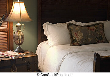 Country Inn - elegant old-world bedroom at a country inn