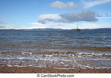 Oil Rig, Cromarty Firth, Scotland