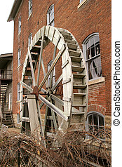 Waterwheel 1 - Bonaparte historic quarters, SE Iowa