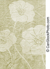 Floral grunge - Floral design on old stained and wrinkled...