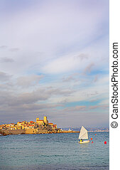 Antibes #102 - A town overlooking the sea in Antibes,...