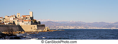 Antibes #162 - A town overlooking the sea in Antibes,...