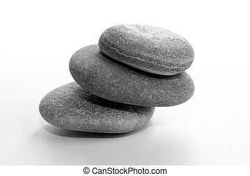 Pile Of stones - Stones on isolated background