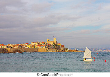 Antibes #86 - A town overlooking the sea in Antibes, France....