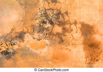 Grunge Wall Texture - burnt orange Grunge Wall Texture with...