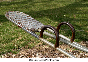Teeter-Totter 2 - Close-up on a seesaw, SE Iowa