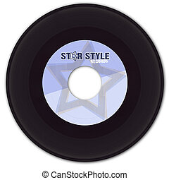 45rpm Vinyl Record with Fake Label - 45 rpm Vinyl Record...