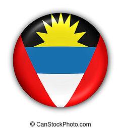 Antigua and Barbuda Flag - World Flag Button Series -...