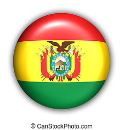 Bolivia Flag - World Flag Button Series - South America -...