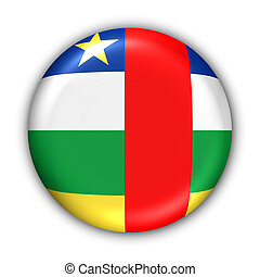 Central African Republic Flag - World Flag Button Series -...