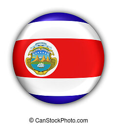 Costa Rica Flag - World Flag Button Series - Central...