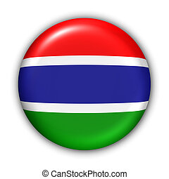 Gambia Flag - World Flag Button Series - Africa - Gambia...