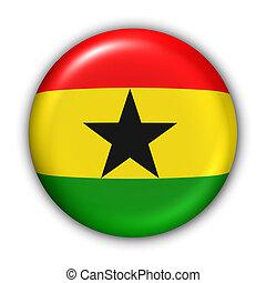 Ghana Flag - World Flag Button Series - Africa - Ghana (With...