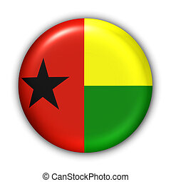 Guinea Bissau Flag - World Flag Button Series - Africa -...