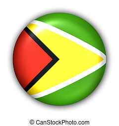 Guyana Flag - World Flag Button Series - South America -...