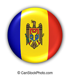Moldova Flag - World Flag Button Series - Europe - Moldova...