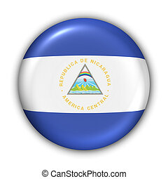 Nicaragua Flag - World Flag Button Series - Central...