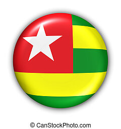 Togo Flag - World Flag Button Series - Africa - Togo With...