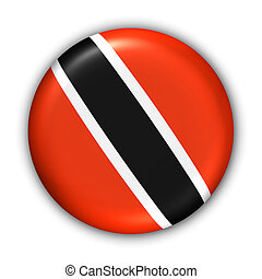 Trinidad and Tobago Flag - World Flag Button Series -...