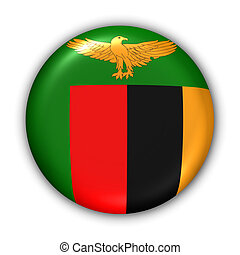 Zambia Flag - World Flag Button Series - Africa - Zambia...