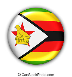 Zimbabwe Flag - World Flag Button Series - Africa - Zimbabwe...