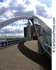 Modern Bridge in Manchester Quays