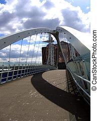 Modern Bridge in Manchester Quays