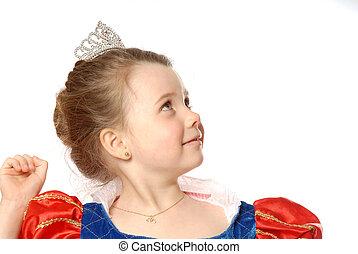 jovem, princesa