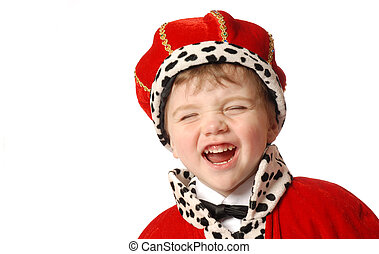 Laughing prince - boy in costume