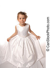 Little princess - girl in white dress
