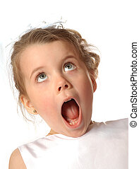Surprised - young girl awed