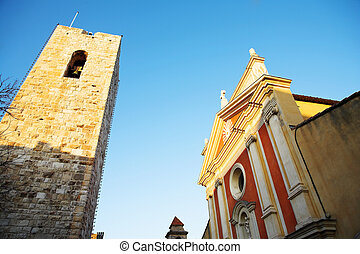 Antibes #43 - Buildings and tower in Antibes, France. copy...